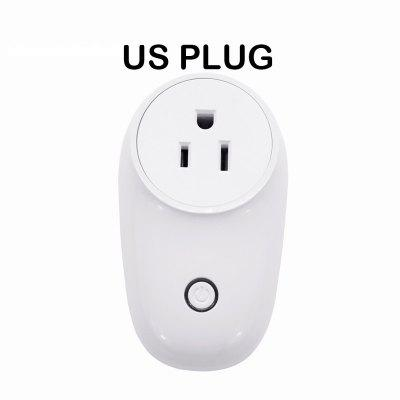 LEEHUR WIFI Smart Socket Plug EU UK US Switch Plug Remote Control Smart Work