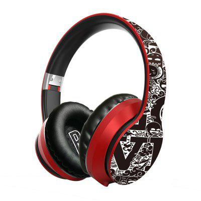 LEEHUR Graffiti Wireless Headphones Bluetooth Earphone 5.0 Foldable Wireless Headset Gaming