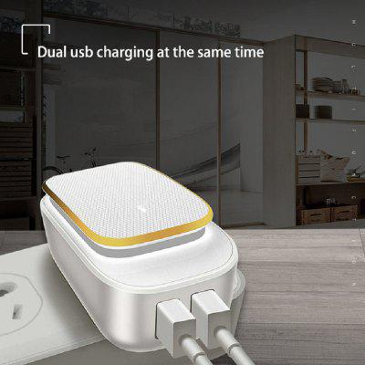 LEEHUR Multi-Port Phone USB Charger Wiht Led Lamp Auto-ID Brightness Adjustable Tarvel Wall Charger