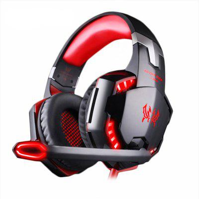 LEEHUR LED Light Over-ear Game Headset Headphone Earphone Headband with Mic Stereo Bass for PC Game