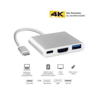 LEEHUR USB Type C Hub to HDMI 4K USB 3.0 Adapter USB C Dock with PD for MacBook Pro Air
