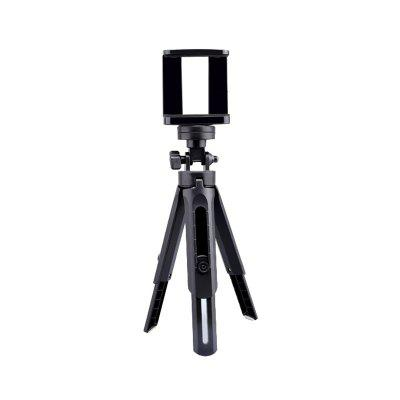 LEEHUR Extendable Folding Phone Stand Tripod Hand Holding Tripod Phone Clamp Bracket Holder Clip