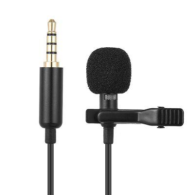Leehur Mini 3.5mm Phone Microphone Clip-on Lapel Lavalier Tie Condenser Mic Wired Microphone