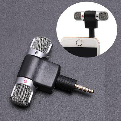 Mini 3.5mm Jack Microphone Stereo Mic for Mobile Phone Mic Adapter Converter Left and Right Channel