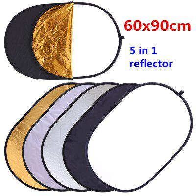 5 In 1 Multi Disc Photography Reflector Studio Photo Collapsible Light Reflector Handhold Photo Disc