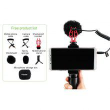 Leehur 3.5mm Wired Professional Camera Microphone Video Record Microphone for youtube Vlog Music Record