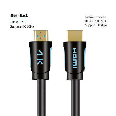 LEEHUR HDMI Cable 4K/60HZ HDMI To HDMI Cable HDMI 2.0 Audio Cable for TV BOX Splitter Switch PS4 TV Box Projector HDMI Cable