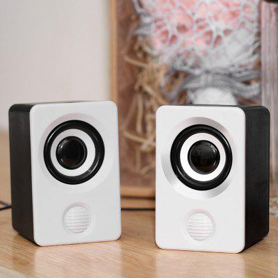LEEHUR Wired Speaker Desk Loudspeaker for computer pc phone Laptops Mini Speaker
