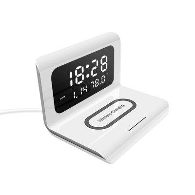 LEEHUR 10W Qi Wireless Charger Pad With Thermometer Calendar Clock Function for iPhone 8 8Plus X XR XS Max 11 Pro Mas Samsung Galaxy Huawei Mate