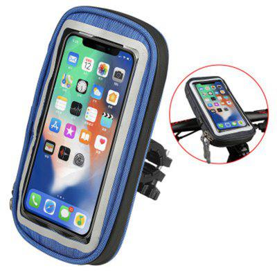 LEEHUR Waterproof Bike Phone Holder Bag Bicycle Handlebar Stand Fit Under 6 inch Mobile Phones