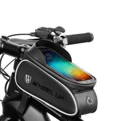LEEHUR Bicycle Frame Front Tube Bag Waterproof Large Capacity Touch Screen Phone Holder Storage for Under 6.5 inch Phones