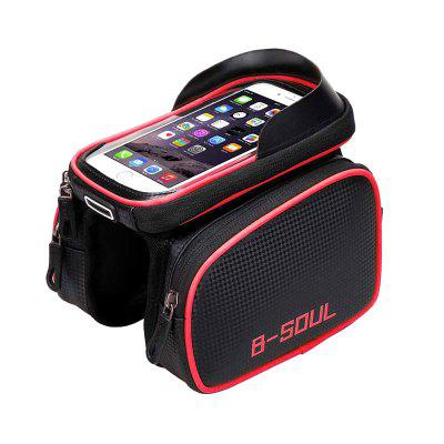 LEEHUR Waterproof Bicycle Phone Bag Bike Tube on the Frame Holder Cycling Saddle for Under 6.2inch Phones
