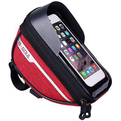 LEEHUR Bicycle Frame Front Tube Bag Waterproof Touch Screen Phone Holder for Under 6.5 inch Phones