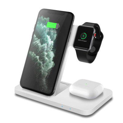 LEEHUR 3 in 1 Qi Wireless Charger Station Dock Charging Holder for iwatch Airpods iPhone Samsung Smart Phones