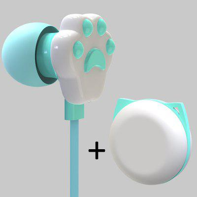 Фото - LEEHUR Lovely Creative Cartoon Cute Cat Claw 3.5mm Jack Wired In-ear Headphones Childs Earphone With Mic for iPhone Xiaomi realme buds 2 black wired 3 5mm earphones 3 button remote with mic built in magnets tangle free android phone