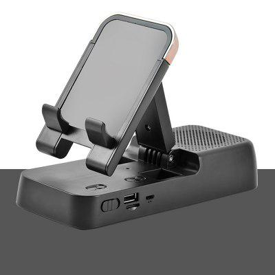 LEEHUR Bluetooth Speaker Phone Holder HD Surround Sound Cell Phone Speakers Adjustable Phone Stand for iPhone Samsung Xiaomi Huawei