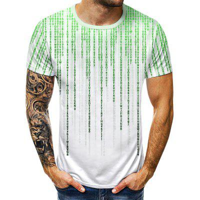 Summer Programming Code Digital Print Fashion T-shirt