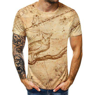 Summer Earth Digital Print Fashion T-shirt