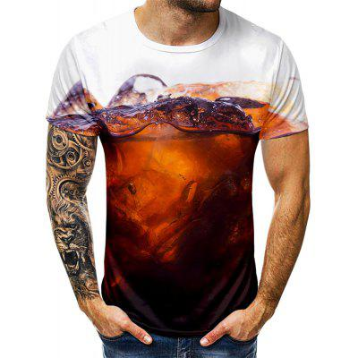 Men Print Short Sleeve Creative T-Shirt