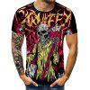 Skull Printed Sports T-shirt with Short Sleeve
