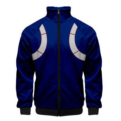 Mens Fashion 3D Zip Up Hooded Jacket