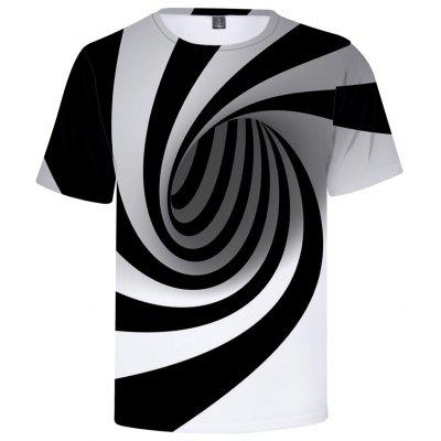 Summer Men Casual Round Neck Vertigo Hypnotic T-Shirts