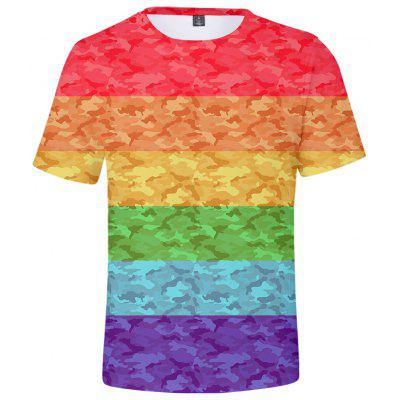Summer 3D Lgbt Creative Design Short-sleeved T-shirt Q3611