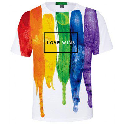 Summer 3D Lgbt Creative Design Short-sleeved T-shirt Q3606