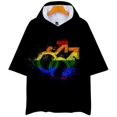 Q3603 Summer 3D Lgbt Creative Design Short-sleeved T-shirt with Cap