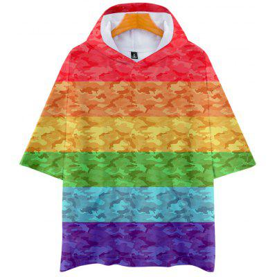 Q3611 Summer 3D Lgbt Creative Design Short-sleeved T-shirt with Cap