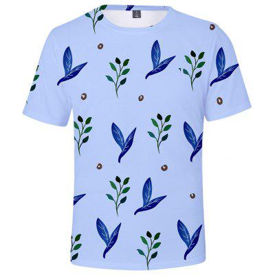 Q5263 Summer 3D Leaf Creative Design Short-sleeved T-shirt