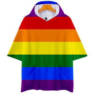 Q3605 Summer 3D Lgbt Creative Design Short-sleeved T-shirt with Cap