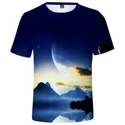 Q0373 3D Summer Men Casual Short Sleeve T-shirt