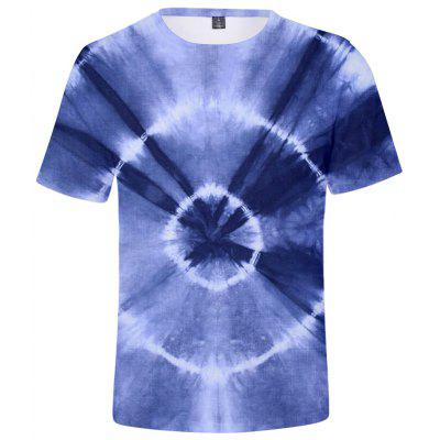 Q1534 3D Summer Men Tie Dye Casual Short Sleeve T-shirt