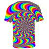Q1538 3D Summer Men Tie Dye Casual Short Sleeve T-shirt