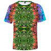 Q1529 3D Summer Men Tie Dye Casual Short Sleeve T-shirt