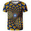 V01071 3D Summer Men Abstract Design Casual Short Sleeve T-shirt