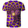 V01069 3D Summer Men Abstract Design Casual Short Sleeve T-shirt