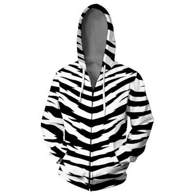 V01317 3D Printed Hooded Sweater Coat