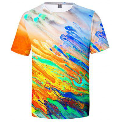 V00632 3D Summer Men Multi-color Funny Design Casual Short Sleeve T-shirt