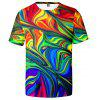 V00631 3D Summer Men Design Paisley Giddiness Casual Short Sleeve T-shirt