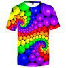 Colorful Ball Funny 3D Summer Men Casual Novelty Short Sleeve T-shirt