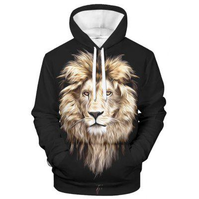 WAWNI Lion Hoodie Sweatshirt Fashion High Street Hooded Streetwear