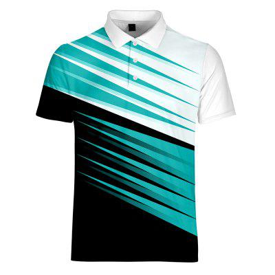 WAWNI Brand Breathable Business Turn-down Collar Short Sleeve T-shirts