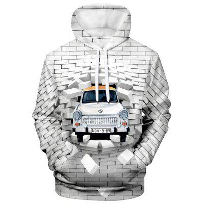 WAWNI Brand Fashion Car and Wall Hoodie Sweatshirt Outerwear