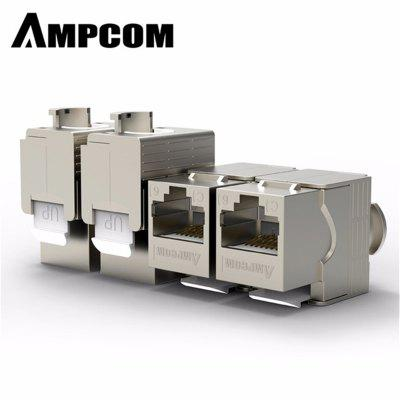 AMPCOM RJ45 Keystone Cat7 Cat6e  Shielded FTP Zinc Alloy Module Network Jack Connector Adapter