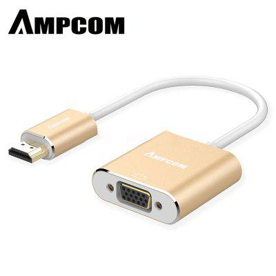 AMPCOM HDMI to VGA Adapter HD 1080P Digital to Analog Video Audio Converter Cable