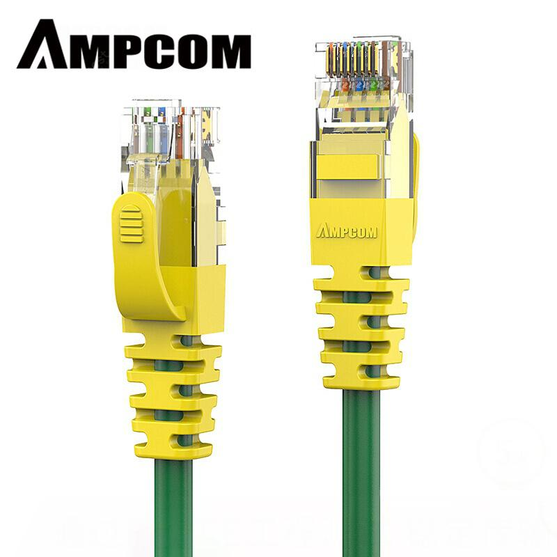 AMPCOM CAT6 Ethernet Cable Solid Copper Yellow Network cable