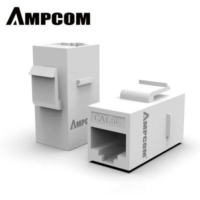 AMPCOM RJ45 Acoplador UTP Straight-Through Keystone Módulo Adaptador para Extender Lan Connector