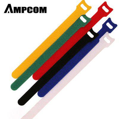 AMPCOM Fastening Cable Ties Hook Loop Reusable Self-grippingCord Management Wraps 6 Colors 48pcs